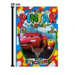 1683 - LIBRO PARA COLOREAR CARS 16 PAG CON STICKERS TAZOS