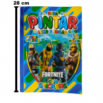 1676 - FORTNITE, LIBRO PARA COLOREAR, LEER Y JUGAR 16 PAG STICKERS