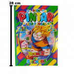 1681 - DRAGON BALL Z, LIBRO PARA COLOREAR, LEER Y JUGAR 16 PAG STICKERS